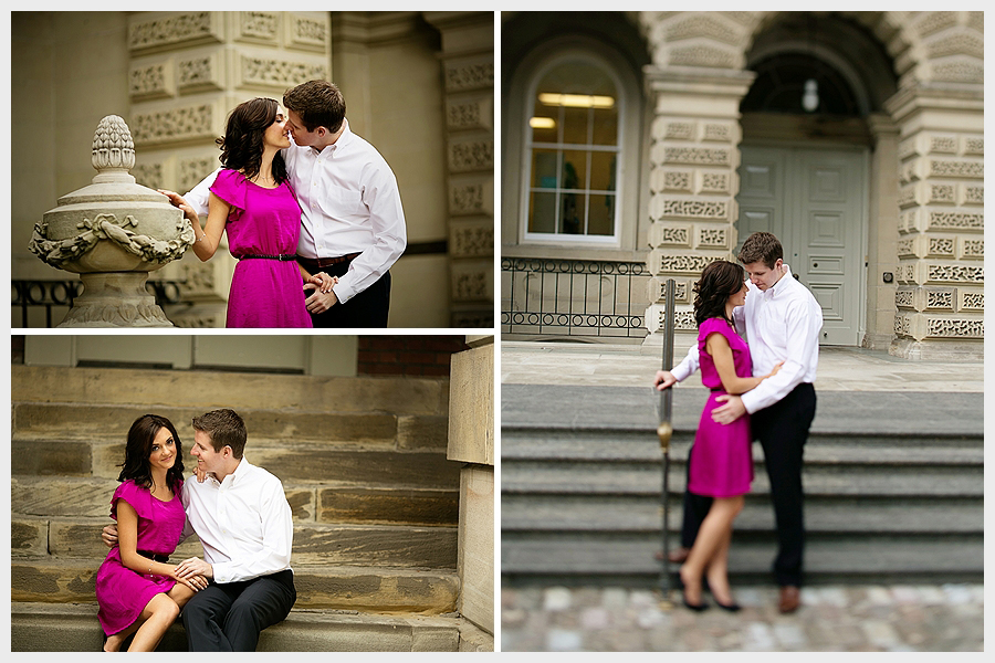 Couple in front of Osgoode Hall
