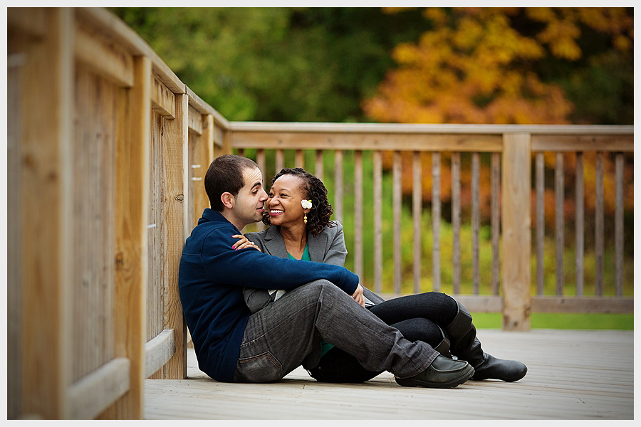 couple on wooden deck
