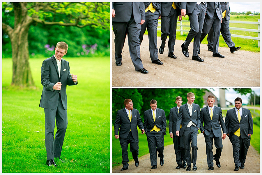 The groom and the boys