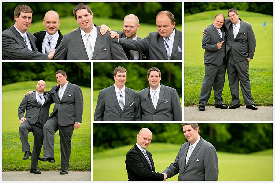 Golf course wedding photos