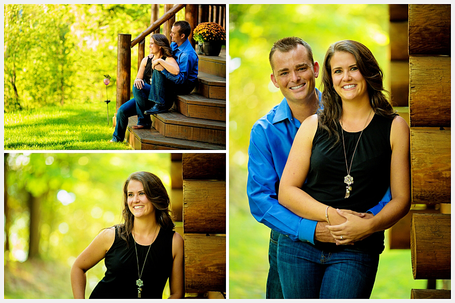 couples photos at cottage