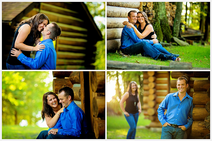 engagement photos at a cottage