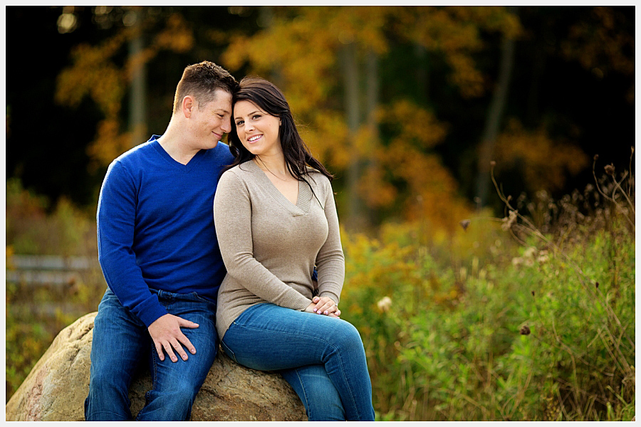 Engagement photos in a conservation area