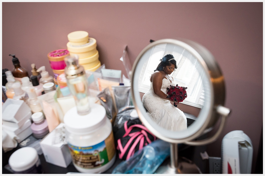 Creative portrait of the Bride