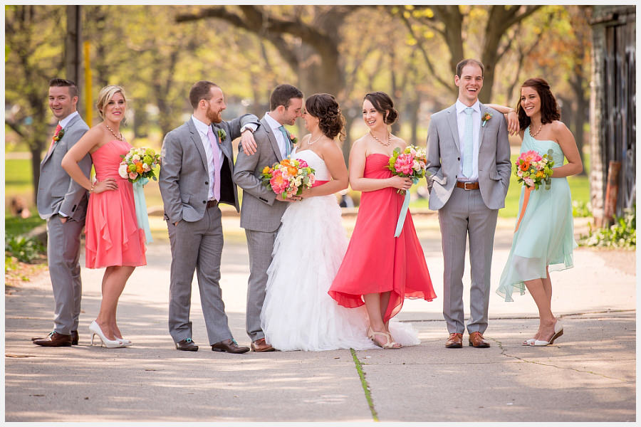 Wedding Party at Trinity Bellwoods Park