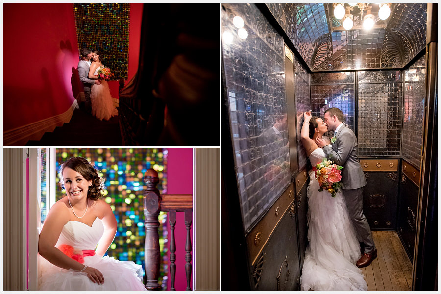 Bride and groom photos at the Gladstone Hotel