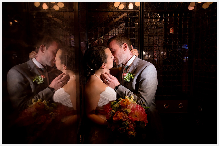 Bride and groom at the Gladstone Hotel