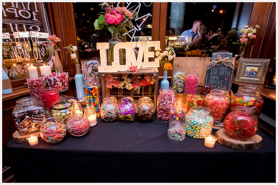 Candy bar at the Gladstone Hotel